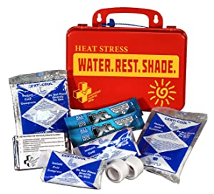 Certified Safety K613-040 18PR Heat Stress Responder Standard First Aid Kit, Poly Red
