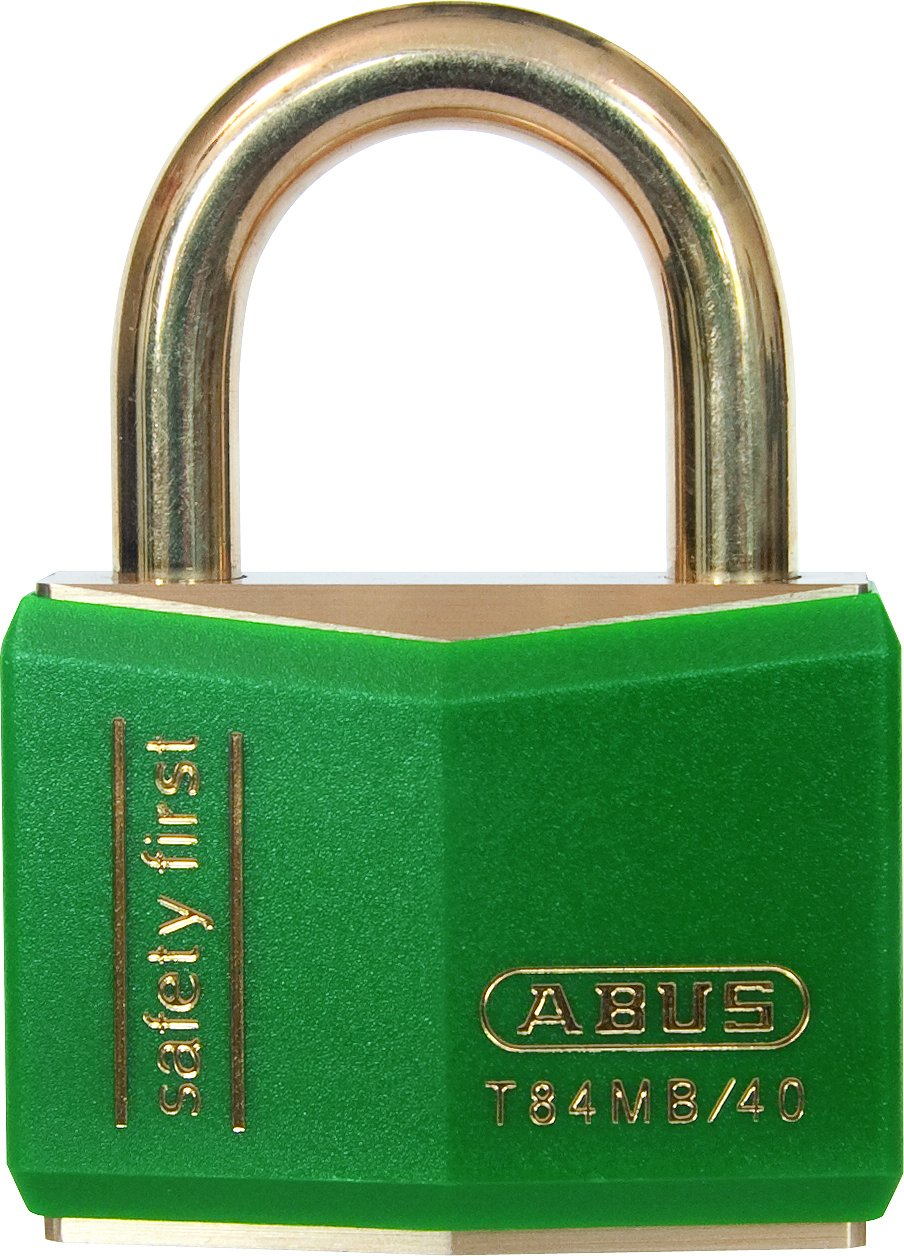 ABUS T84MB/40 C KD 40mm All Weather Solid Brass Keyed Different Padlock, Green