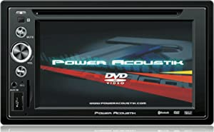 Power Acoustik PTID-6250 Double-DIN DVD/AM/FM Receiver with 6.2-Inch Touchscreen Monitor and USB/SD Input (Discontinued by Manufacturer)