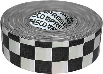 Presco Checkerboard Cinta de bandera con rollo estampado: 1-3/16 in. x 300 ft. (Tablero de damas blanco y negro): Amazon.es: Bricolaje y herramientas