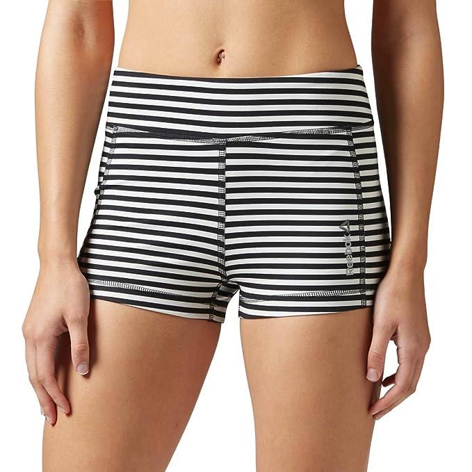 Amazon.com : Reebok Womens Yoga Hot Shorts Chalk Shorts ...