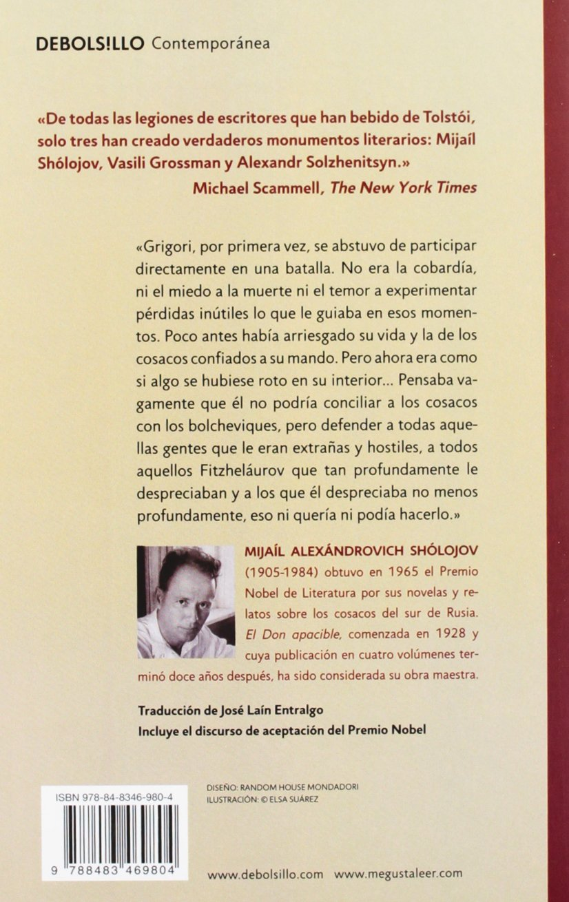 El Don apacible/ The Silent Don (Spanish Edition): Mijail Sholojov, Jose Lain Entralgo: 9788483469811: Amazon.com: Books