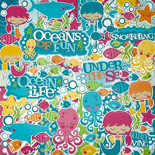 - Die Cuts & Paper Set - Under The Sea - by Miss Kate Cuttables - 16 Sheets of 12