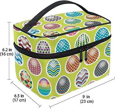 Bolsa de cosméticos Huevos Multicolores Huevos de Pascua Maleta de Maquillaje Estuche portátil con Cremallera portátil Bolsa de Cepillo cosmético Almacenamiento Grande: Amazon.es: Equipaje