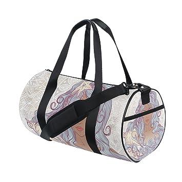 0d07523224 OREZI Beautiful African American Girl Sports Duffel Bag for Women and  Men