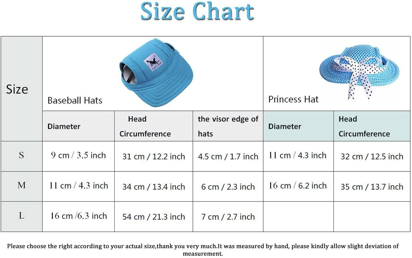 BBEART Dog Hat,Dog Sunscreen Hat Baseball Cap Outdoor Sports Hat with Ear Holes Chin Strap Adjustable Hat for Small and Medium Dog Large Dogs
