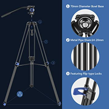 Neewer Professional Hochleistungs Videostativ 76 Zoll Kamera