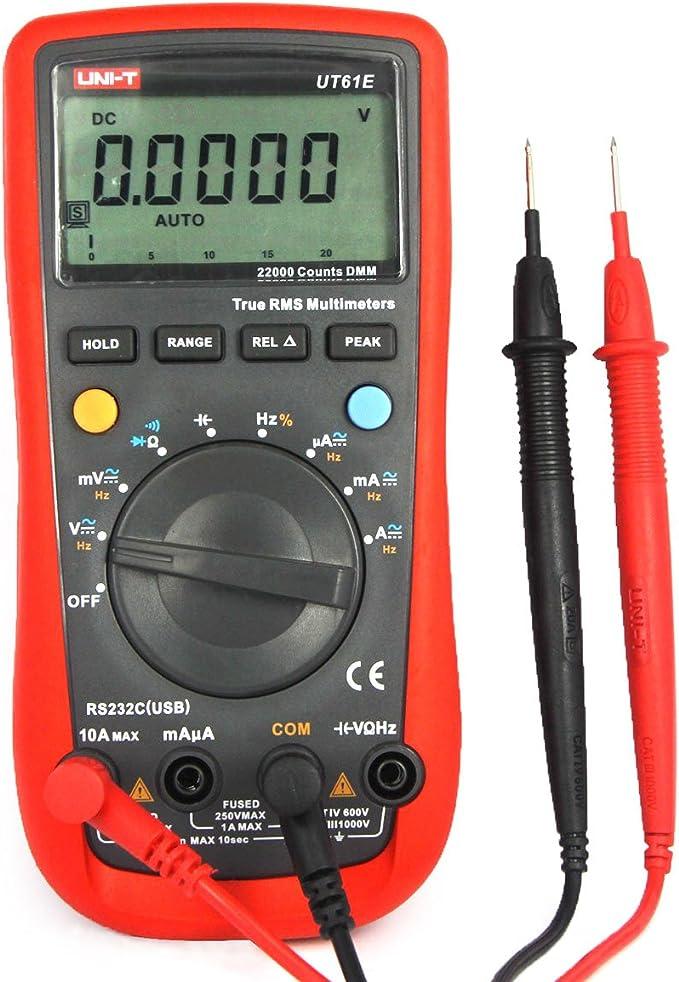 Uni T Ut61e Digital Multimeter Mit Lcd Multimeter Voltmeter Amperemeter Ohmmeter Für Ac Dc Spannung Strom Widerstand Kapazität Tester Mit Rs232c Kabel Baumarkt