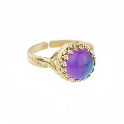 61a699273 SYLVIE Moodstone Ring: Amazon.co.uk: Jewellery