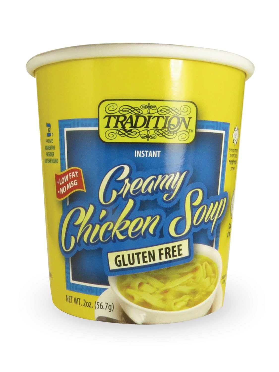 Tradition Gluten Free Instant Noodle Soup Cup, Creamy Chicken, 2 Ounce (Pack of 12) by Tradition
