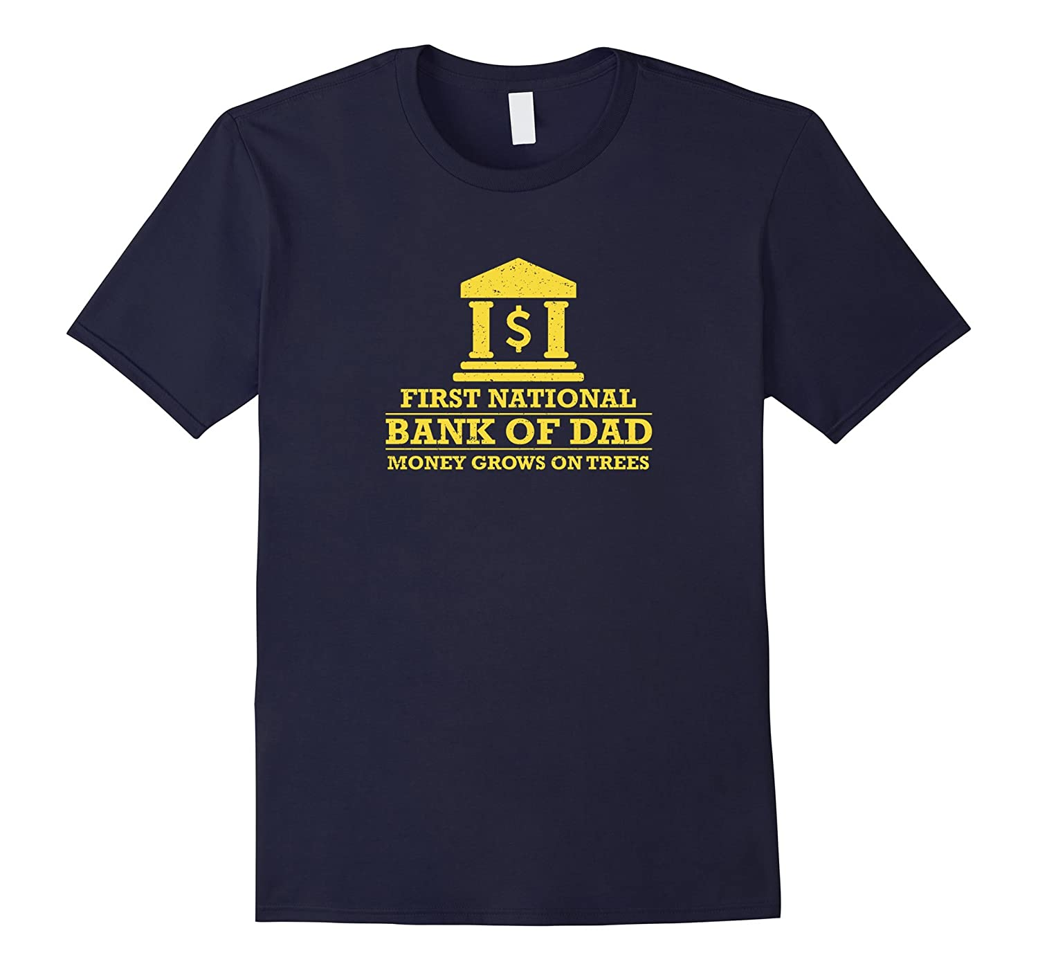 Mens National bank of dad funny family t-shirt-TH