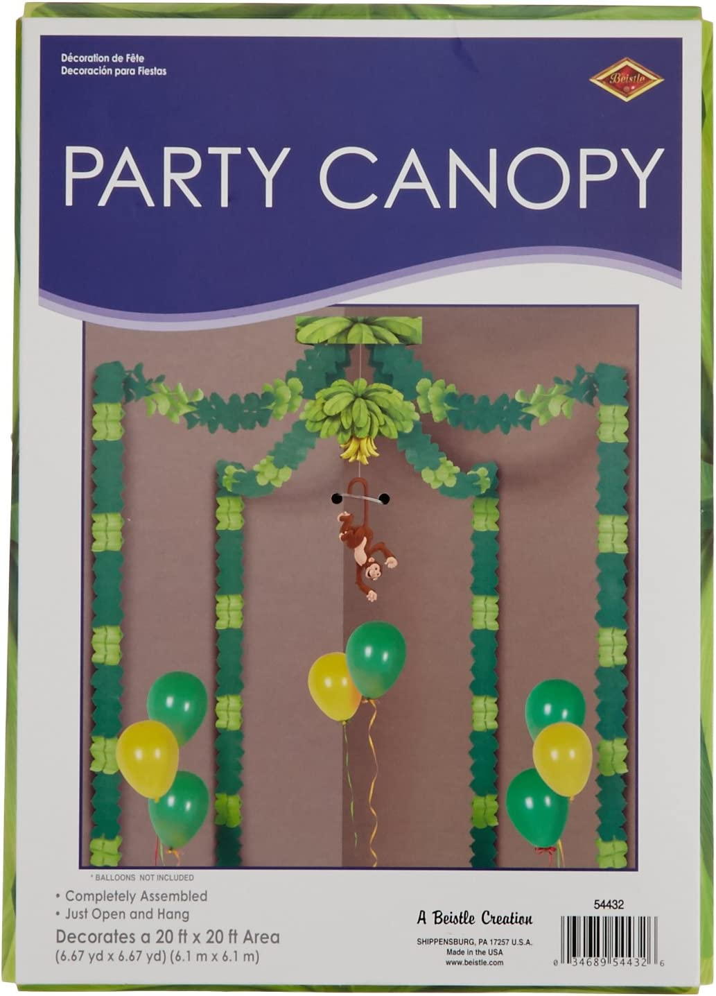 Jungle Monkey Canopy (Includes Four 12 Ft. Garlands)