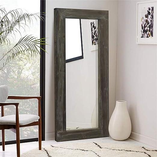 Amazon Com Elevens Full Length Natural Wood Frame Floor Mirror 58