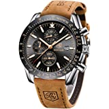 BENYAR Reloj cronógrafo para Hombre Movimiento de Cuarzo Fashion Business Sports Watch 30M Impermeable Elegante Regalo…