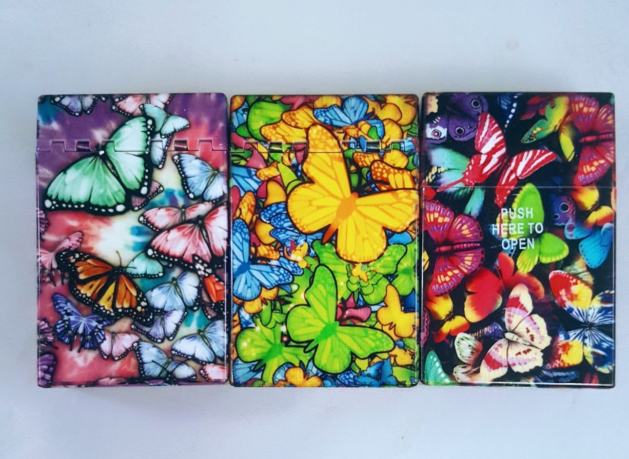 Butterfly Pack Cigarette Case/box - For King Size Cigarettes (3 Boxes)