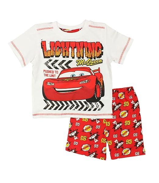 Disney Cars Rayo McQueen de pijama de manga corta para juego de funda de para niños