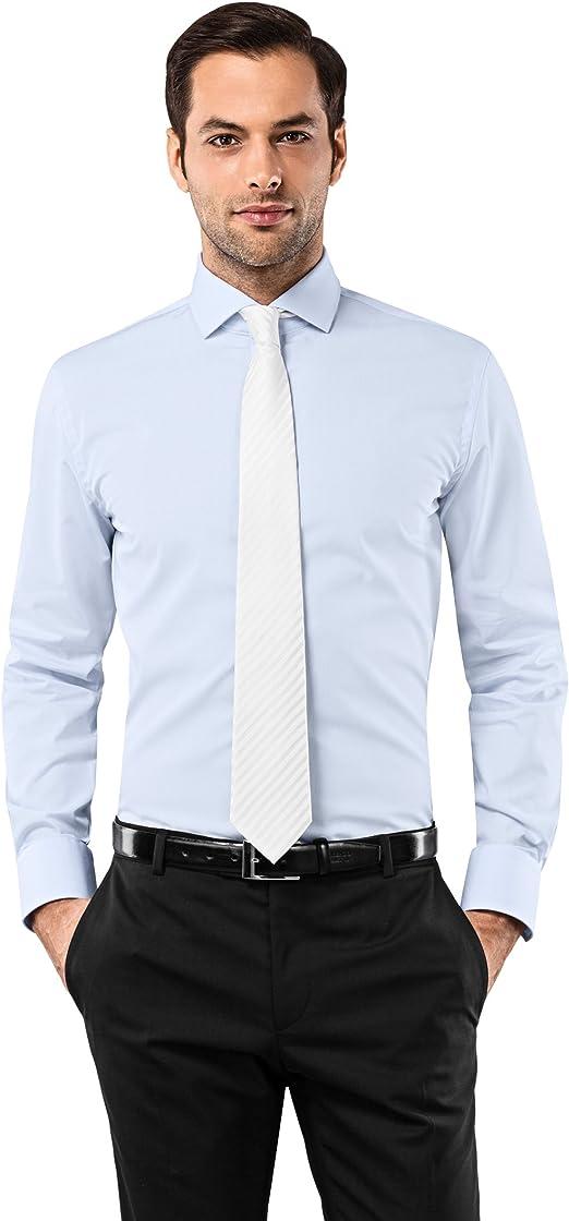VB camisa para hombre Slim Fit tiburón cuello uni Non Iron