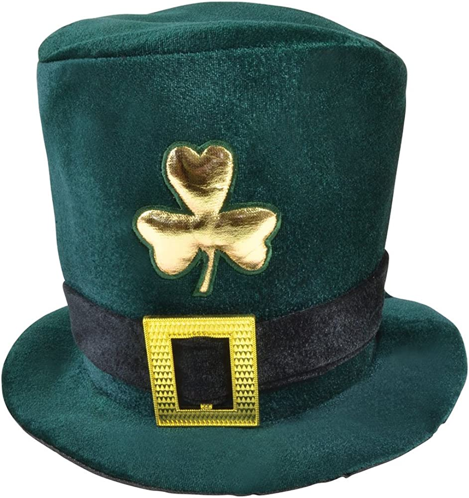 Bristol Novelty Unisex Irish Velvet Top Hat