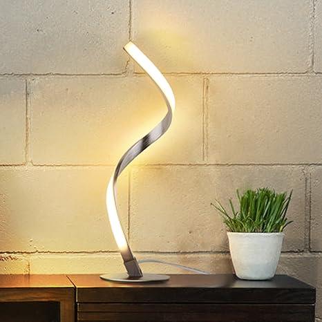 Albrillo lampada da tavolo a spirale, moderna lampada da letto a LED ...
