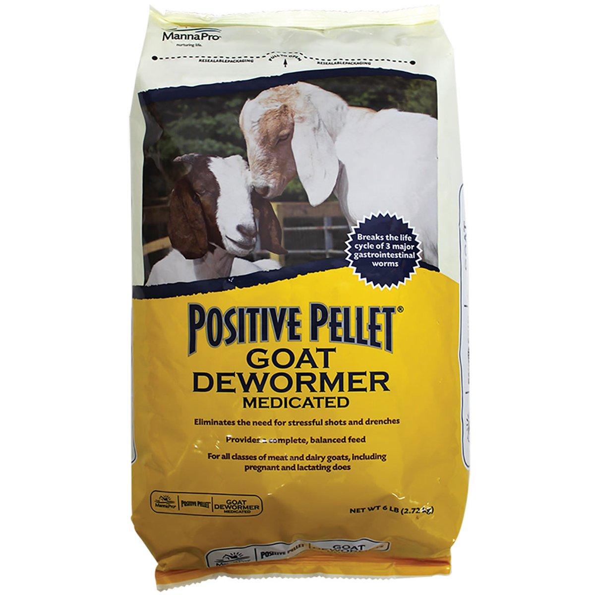 Manna Pro Positive Pellet Medicated Goat Dewormer, 6-Pounds