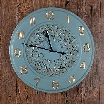WERLM Página de inicio personalizada Reloj Digital Reloj de pared Reloj de pared de metal es un restaurante familiar cocinas office escuelas son ideales ...