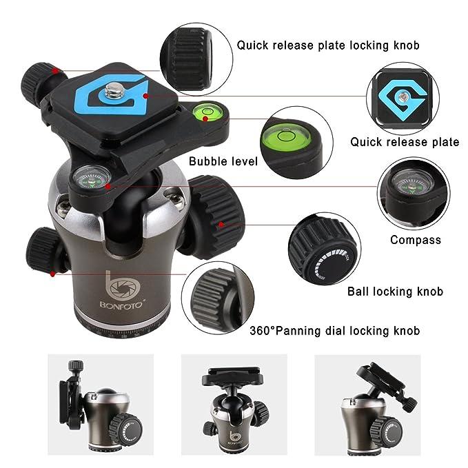 bonfoto b671 a ligero cámara de aleación de aluminio Trípode de ...