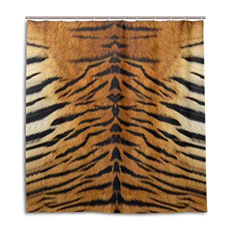 Image Unavailable Not Available For Color MOFEIYUE Shower Curtains Animal Tiger Print