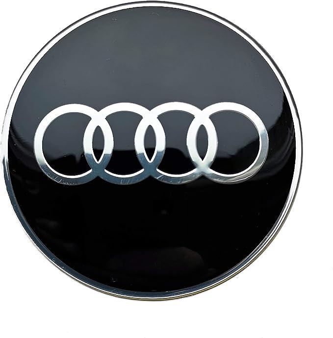 Image of Conjunto de 4 x 65mm pegatinas para central Tapas de rueda, tapacubos AudiLogo autoadhesivas
