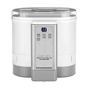Cuisinart CYM-100 Electronic Yogurt Maker with Automatic Cooling,3.12lb Jar capacity,(1.5L)