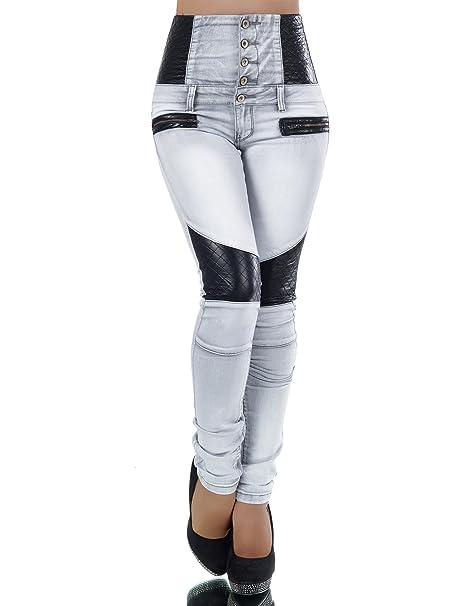 L340 Pantalones vaqueros Corpiño Pantalón Vaquero Para Mujer ...