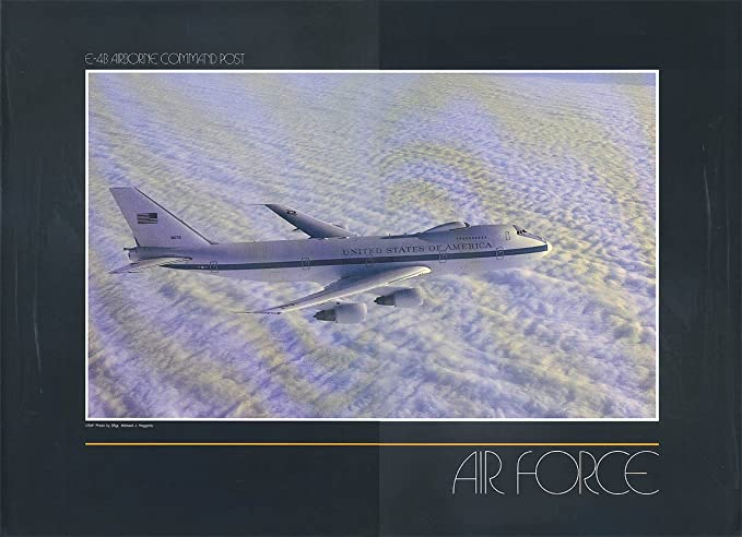 us air force print boeing e 4b airborne command post doomsday plane