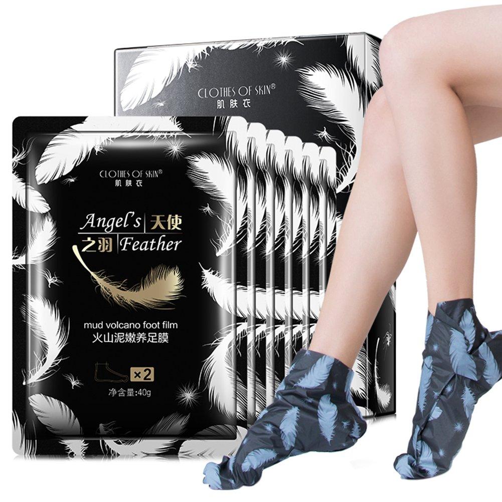 Masque pour les pieds, Moreauty Masque épluché de pied de peau morte avec des chaussettes hydratantes Crème de soin pour les pieds cuticules exfoliante (1 paire)