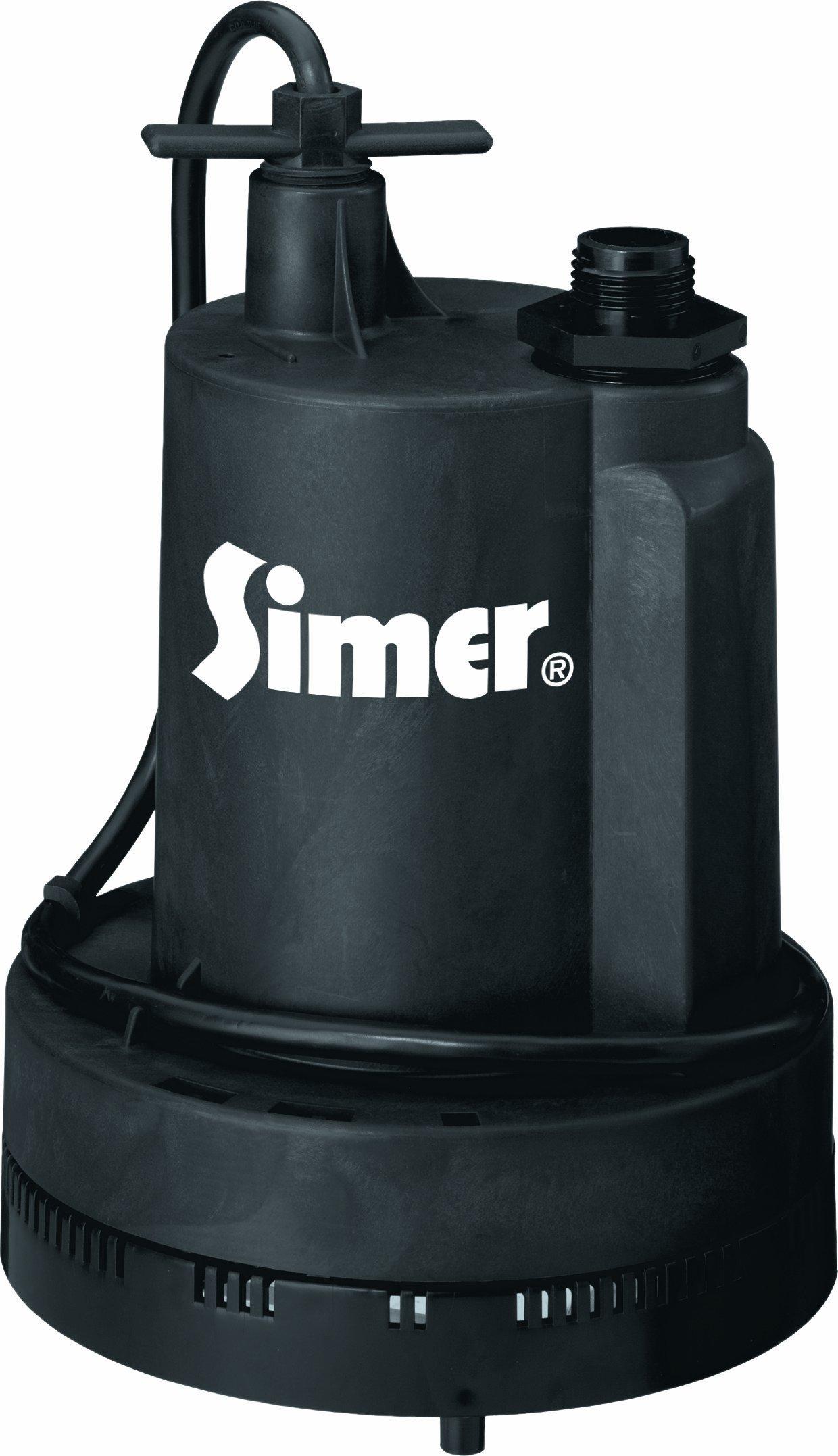 Simer 2305-04 Geyser II 1/4 HP Submersible Utility Pump by Simer