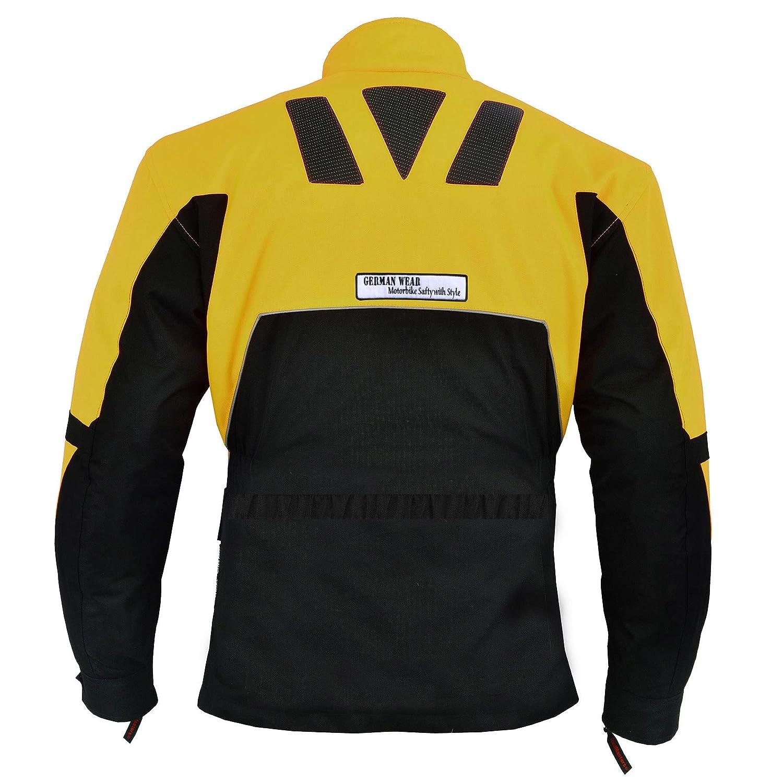 color negro y amarillo Chaqueta de textil para motorista German Wear