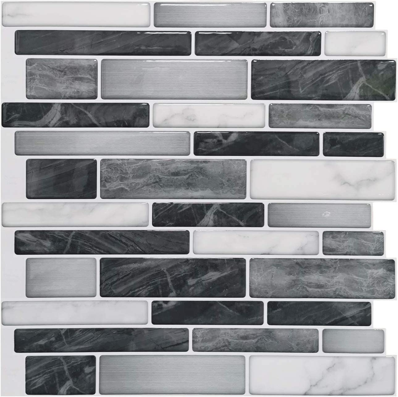 - Amazon.com: Art3d 10-Sheet Self-Adhesive Tile Backsplash For Kitchen, Vinyl  Decorative Tiles, 12