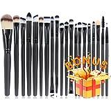 BEAKEY 20+1 Makeup Brush Set Professional Eyeshadow Brush set Foundation Eyeliner Brush Powder Liquid Cream Cosmetics Blending Brush Tool with 1 Secret Gift