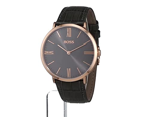 50d919a71 HUGO BOSS Men's Analogue Quartz Watch with Leather Strap - 1513372:  Amazon.co.uk: Watches