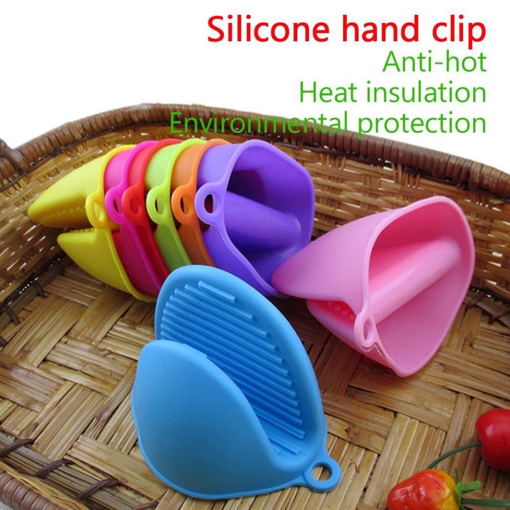 Con aislamiento de alta temperatura guantes de silicona Clip ...
