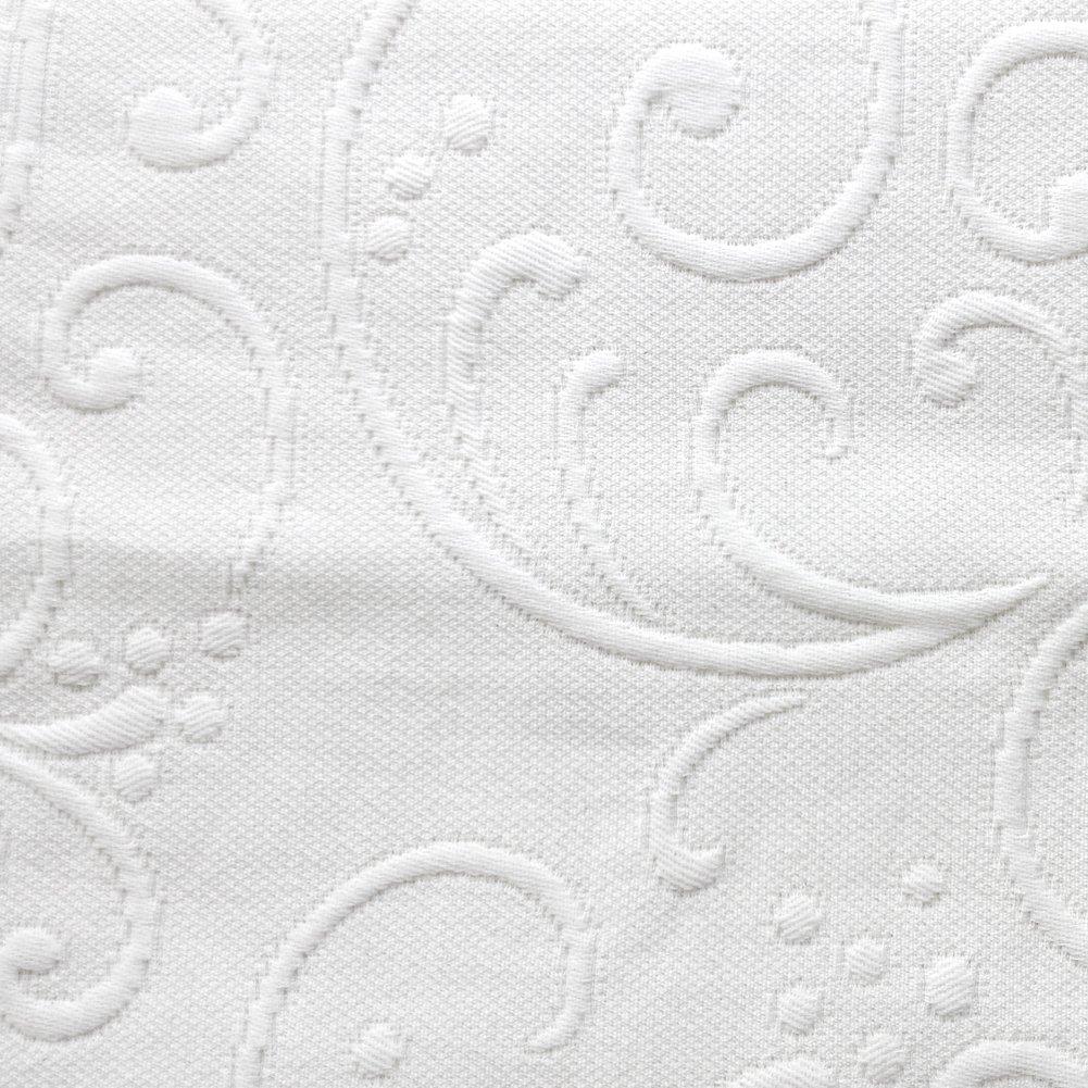 Europa Fine Linens Braga Matelasse Coverlet, Twin, White