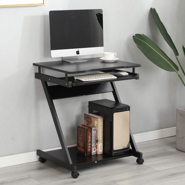 48 Noir Dlandhome Table Roulante Z 60 73 Cm Bureau De Lit Canape