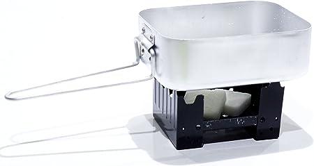 Estufa plegable de supervivencia Militar Estilo grabadora de Hexamina con 16 bloques de combustible sólido