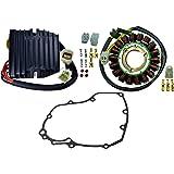 Kit Improved Heavy Duty Stator + Voltage Regulator Rectifier + Gasket For Suzuki GSX-R 600 GSXR 750 2006-2009