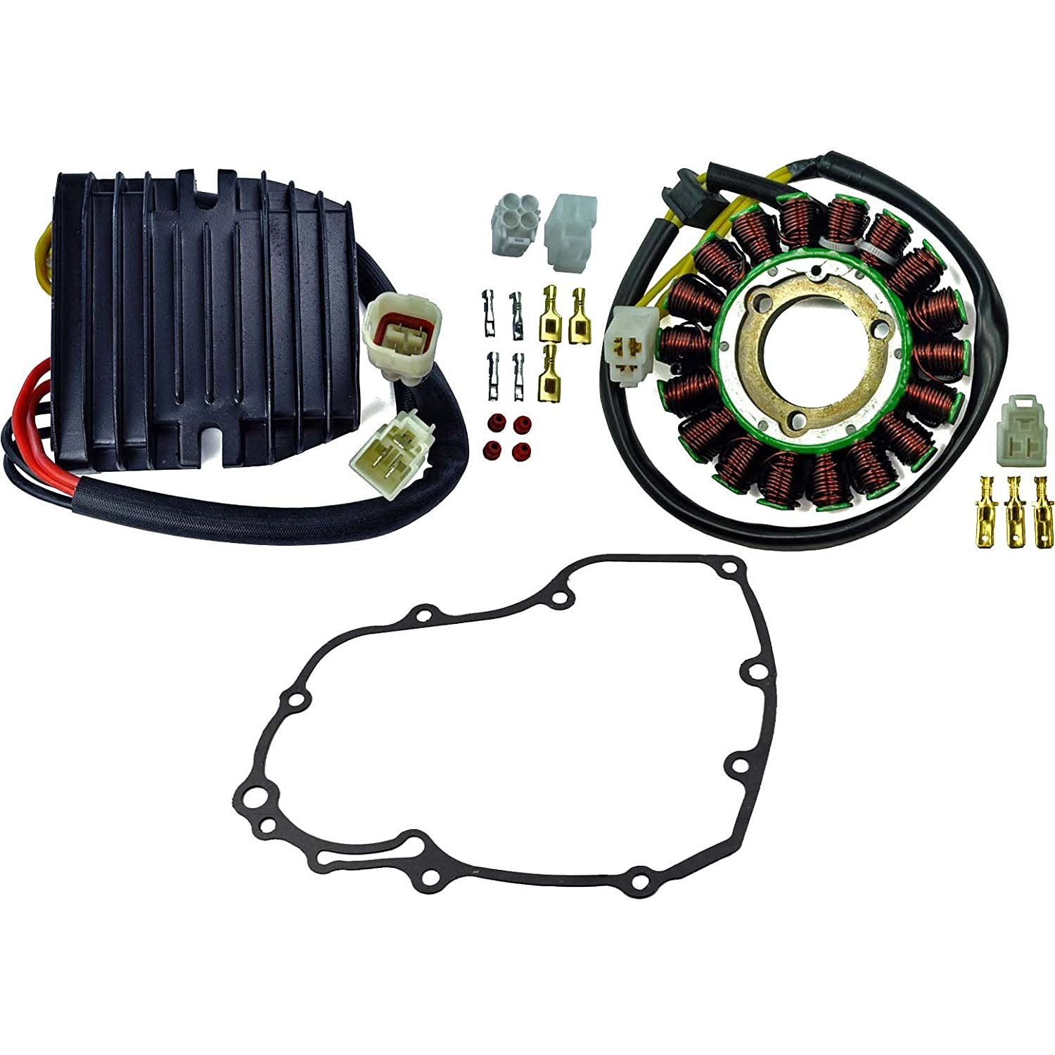 kit improved heavy duty stator mosfet voltage regulator rectifier gasket for suzuki gsx r 600 gsxr 750 2006 2017  06 gsxr rectifier regulator wiring diagram #5