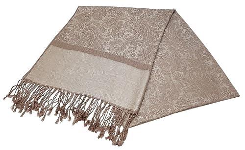 World of chales Jacquard diseño de cachemira suave Pashmina Feel bufanda robó Wrap Luxurious y Cálid...