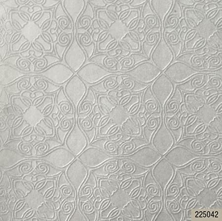 Selecta Portofino Wallpapers Flocked Damask Wallpaper Grey Wallpaper