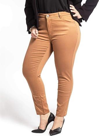 Amazon Com Olgyn Pantalones De Tobillo Elastico Para Mujer Talla Grande Ajuste Delgado Clothing