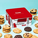 David's Cookies - 24 Fresh Baked Assorted Cookies Gourmet Gift Basket - Christmas, Holiday & Corporate Food Tin - Idea For Men & Women - Certified Kosher - 2lb