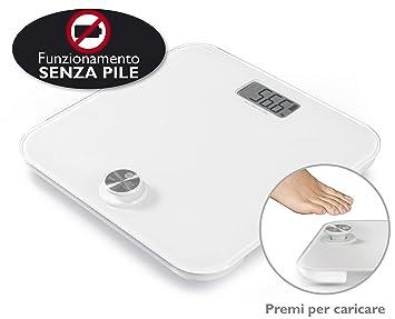 Macom Smart Body Scale Báscula personal electrónica Plaza Blanco - Báscula de baño (Báscula personal