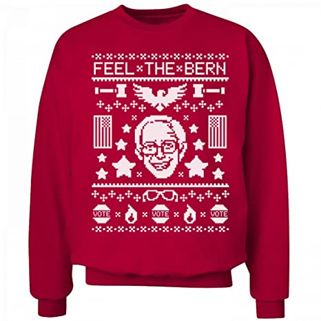 Amazon.com: Feel The Bern Sweater: Unisex Hanes Ultimate Crewneck ...