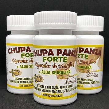 Amazon.com: Chupa Panza 90 Jengibre+Alga Espirulina Quema ...
